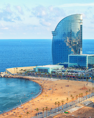 Barcelonetta luxury beach and quay, Barcelona, Spain