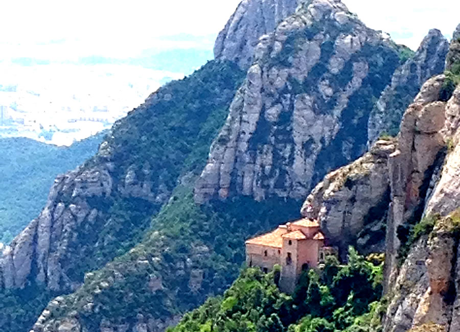 Magnificent Mountain Montserrat Spain