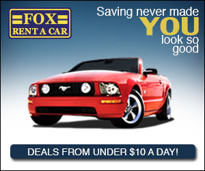 Fox Car Rental 300 x 250