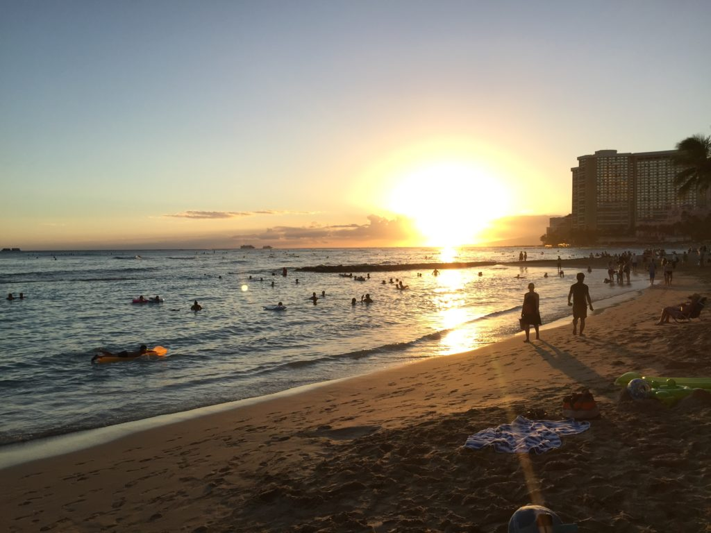 Sunset Waikiki Beach