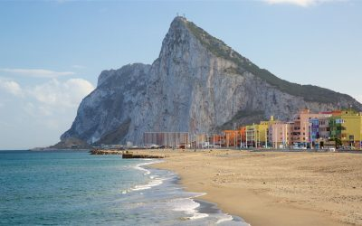Gibraltar, British. Located in South of Spain